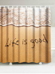 Beach Style Words Waterproof Bathroom Shower Curtain