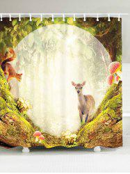 Waterproof Fabric Secret Garden Sheep Shower Curtain