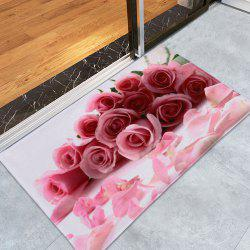 Rose Water Absorption Coral Velvet Area Rug