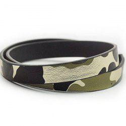 Faux Leather Camouflage Infinity Bracelet
