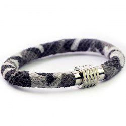 Two Tone Metal Head Bracelet
