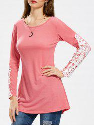 Lace Applique Longline T-shirt