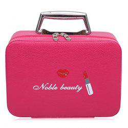 Lip and Lipstick Print Makeup Box - ROSE RED
