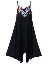 Plus Size Embroidery Slip Dress