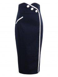 High Waist Tight Sheath Work Skirt -
