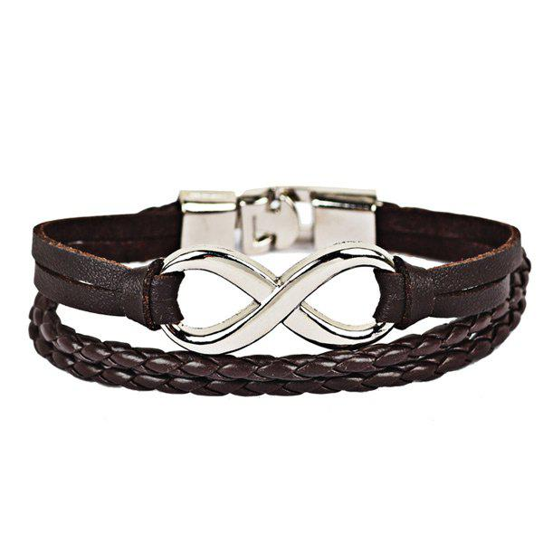 New Faux Leather Braid Infinite Rope Bracelet
