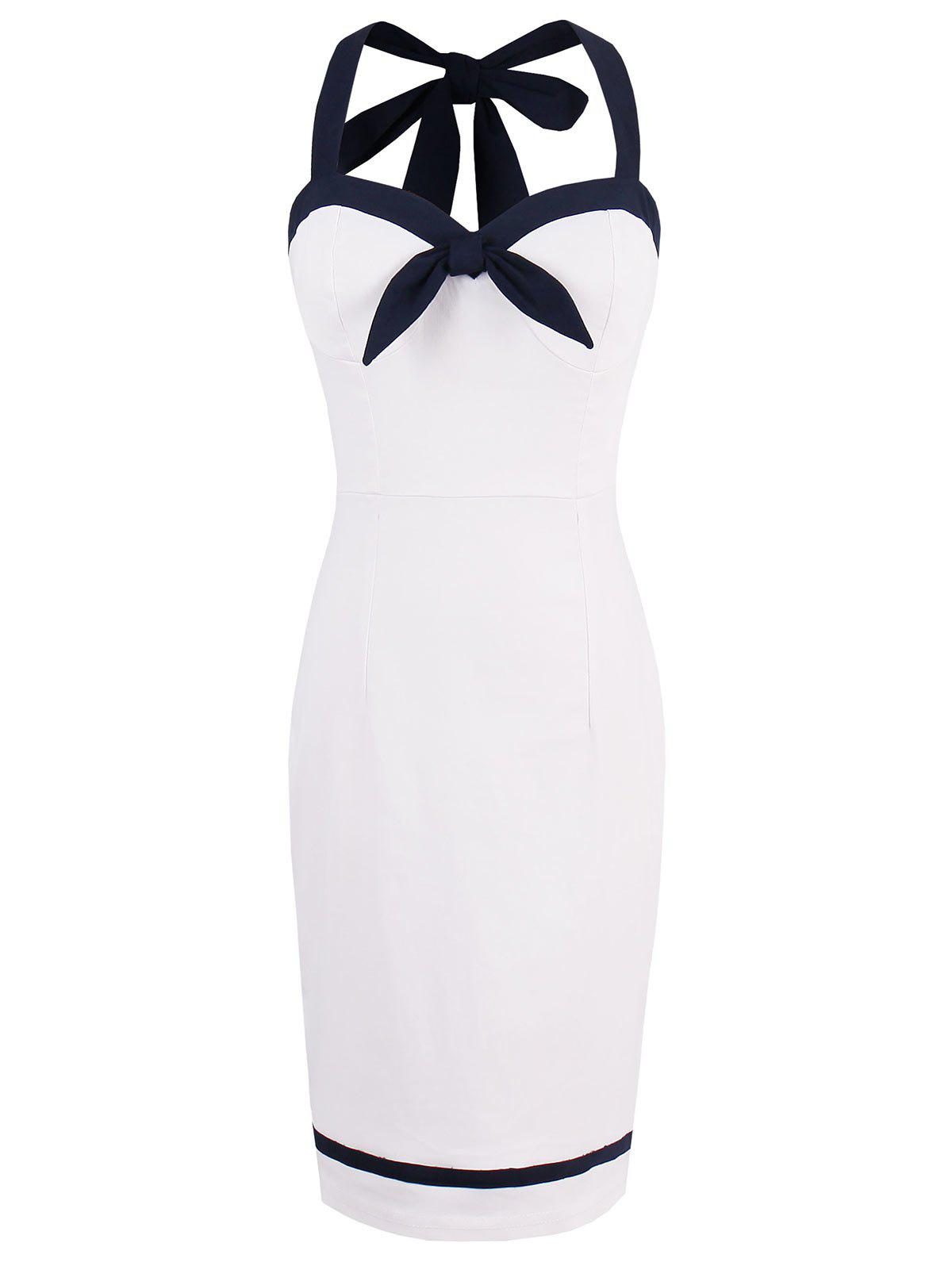 Fashion Mini Halter Sleeveless Sheath Dress