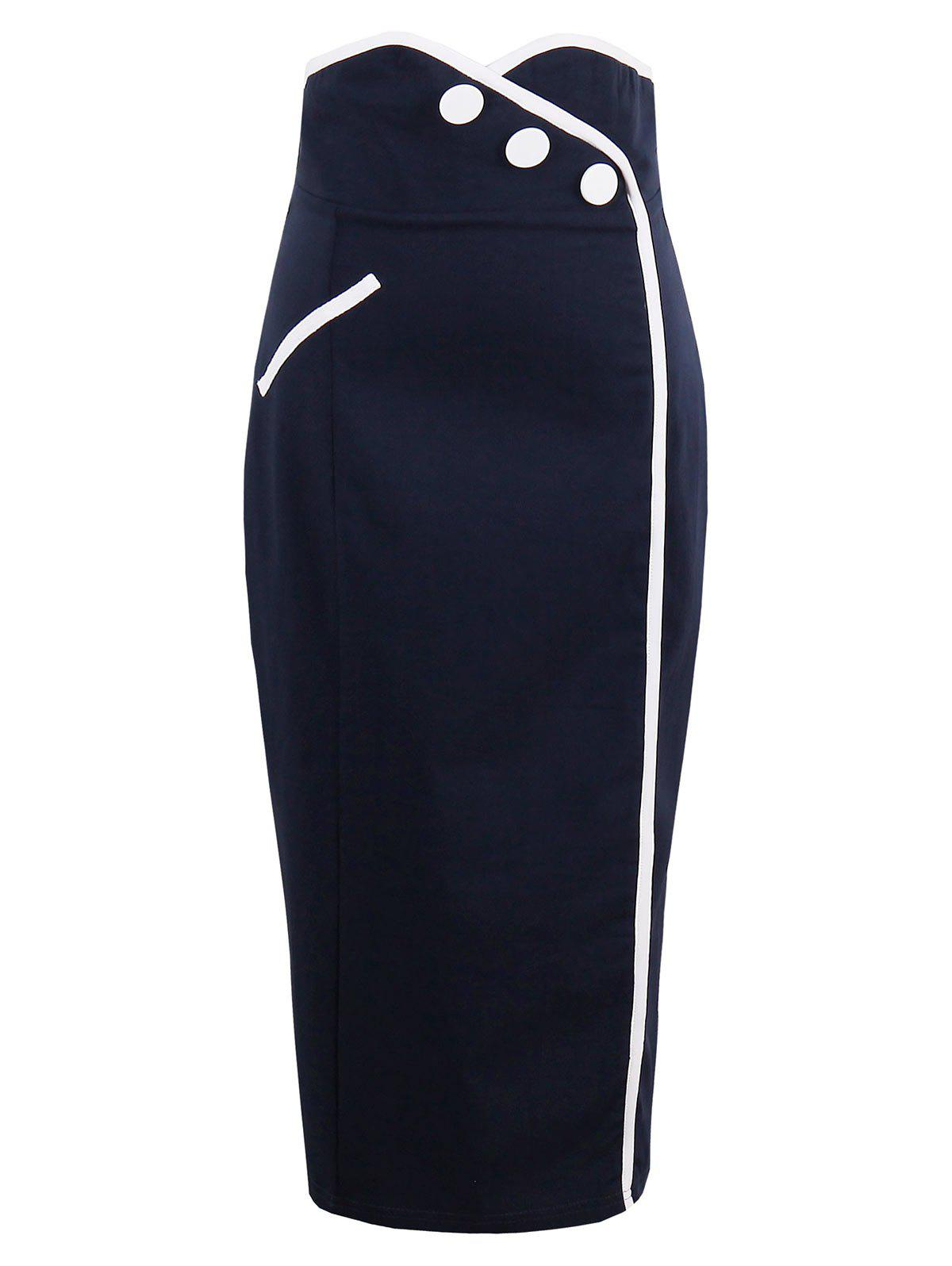 Chic High Waist Tight Sheath Work Skirt