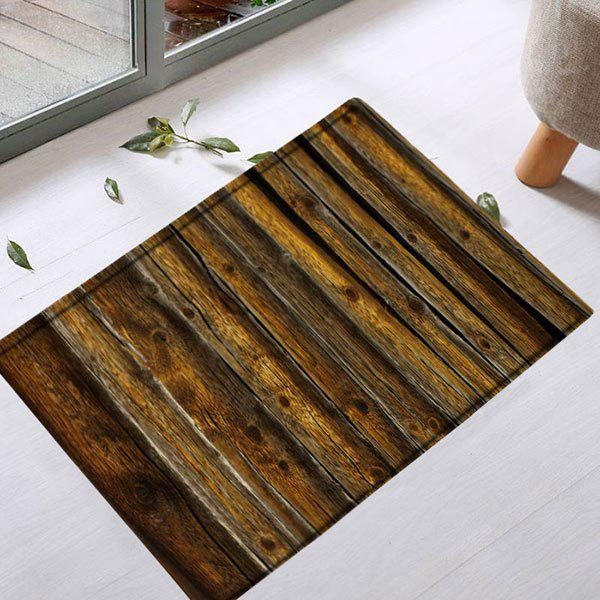 Water Absorbent Vintage Wood Grain Bath RugHOME<br><br>Size: W20 INCH * L31.5 INCH; Color: BROWN; Products Type: Bath rugs; Materials: Flannel; Pattern: Print; Style: Vintage; Shape: Rectangle; Package Contents: 1 x Rug;