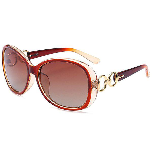 Outdoor Anti UV SunglassesACCESSORIES<br><br>Color: TEA-COLORED; Group: Adult; Gender: For Women; Style: Fashion; Lens material: Polycarbonate; Frame material: Other; Lens height: 5.2CM; Lens width: 6.0CM; Temple Length: 14.1CM; Nose: 1.5CM; Frame Length: 13.4CM; Weight: 0.1000kg; Package Contents: 1 x Sunglasses;
