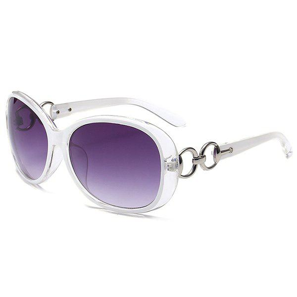 Outdoor Anti UV SunglassesACCESSORIES<br><br>Color: WHITE; Group: Adult; Gender: For Women; Style: Fashion; Lens material: Polycarbonate; Frame material: Other; Lens height: 5.2CM; Lens width: 6.0CM; Temple Length: 14.1CM; Nose: 1.5CM; Frame Length: 13.4CM; Weight: 0.1000kg; Package Contents: 1 x Sunglasses;