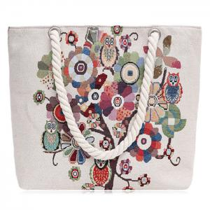 Print Canvas Beach Bag