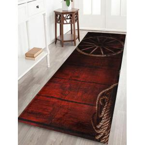 Retro Wheel Water Absorption Coral Fleece Bath Rug