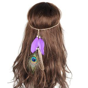 Peacock Feather Indian Charm Headwear -