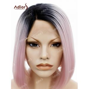 Adiors Short Colormix Side Part Straight Bob Lace Front Synthetic Wig