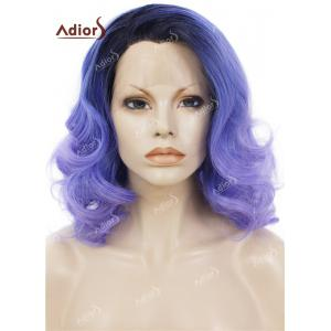 Adiors Medium Colormix Side Swept Bang Curly Lace Front Synthetic Wig