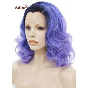 Adiors Medium Colormix Side Swept Bang Curly Lace Front Synthetic Wig -