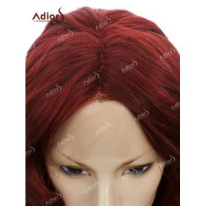 Adiors Long Center Part Layered Curly Lace Front Synthetic Wig -