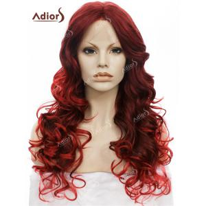 Adiors Long Center Part Layered Curly Lace Front Synthetic Wig