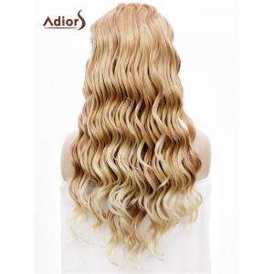 Adios Long Free Part Shaggy Curly Colormix Lace Front Synthetic Wig -
