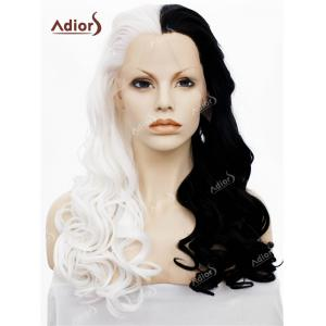 Adios Long Free Part Shaggy Curly Colormix Lace Front Synthetic Wig