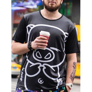 Cartoon Pig Printed Tee -