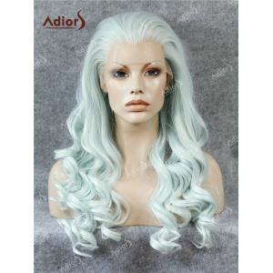 Adios Free Part Long Shaggy Curly Lace Front Synthetic Wig - Cloudy