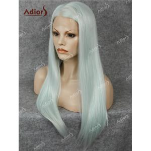 Adiors Long Free Part Glossy Straight Lace Front Synthetic Wig - CLOVER