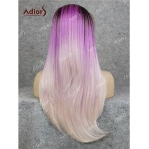 Adiors Long Free Part Colormix Glossy Straight Lace Front Synthetic Wig -