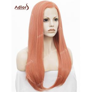 Adiors Long Free Part Glossy Straight Lace Front Synthetic Wig -