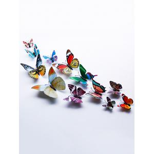 3D Single Wing Butterfly Luminous Wall Stickers