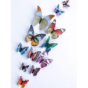 3D Single Wing Butterfly Luminous Wall Stickers - COLORFUL
