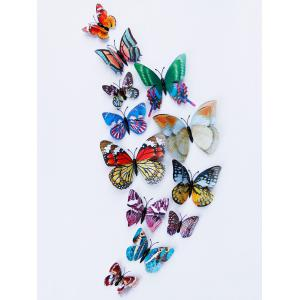 Home Decoration Double Layer Luminous 3D Butterfly Wall Stickers