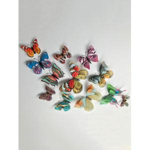Home Decoration Double Layer Luminous 3D Butterfly Wall Stickers -