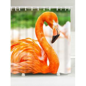 Flamingo Print Waterproof Shower Curtain