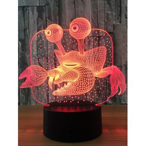 Crab Color Changing LED 3D Visual Night Light - Transparent