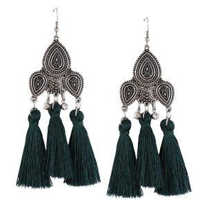 Rhinestone Tassel Teardrop Gypsy Earrings