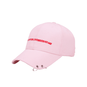 Letters Embroidered Double Circles Baseball Hat -