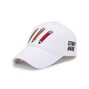 Pencil Letters Embroidered Baseball Cap