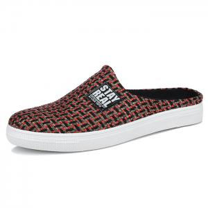 Letter Printed Gien Check Pattern Casual Shoes -