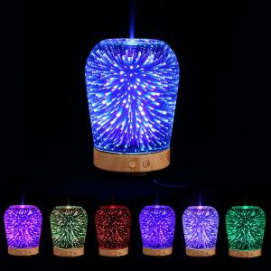 3D Color Changing LED Light Aromatherapy Oil Diffuser Humidifier - Colorful
