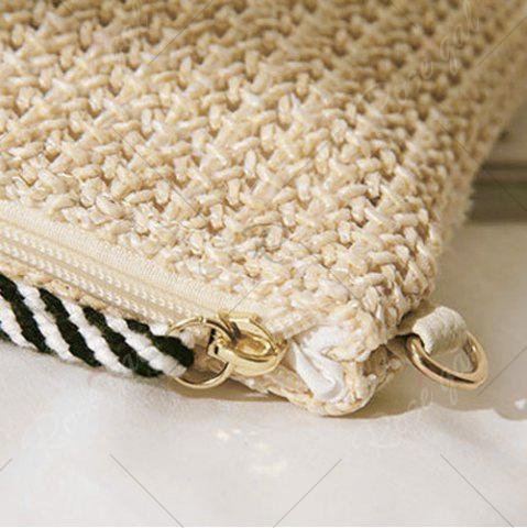 Store Embellished Straw Woven Crossbody Bag - MULTI  Mobile