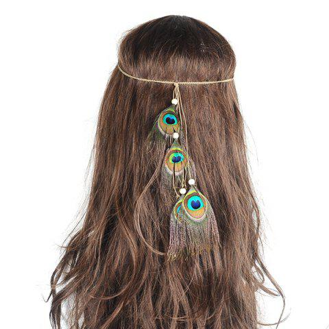 Outfits Peacock Feather Indian Hair Accessory - GREEN  Mobile