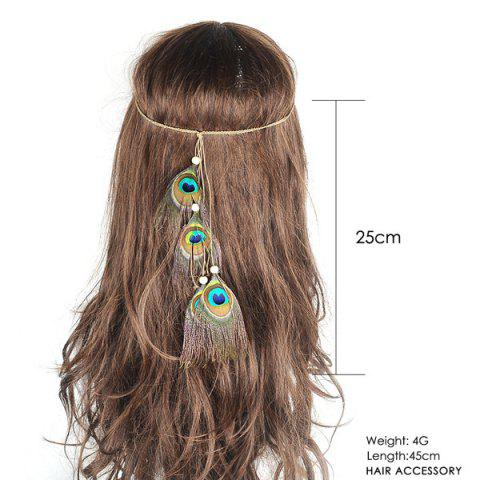 Store Peacock Feather Indian Hair Accessory - GREEN  Mobile