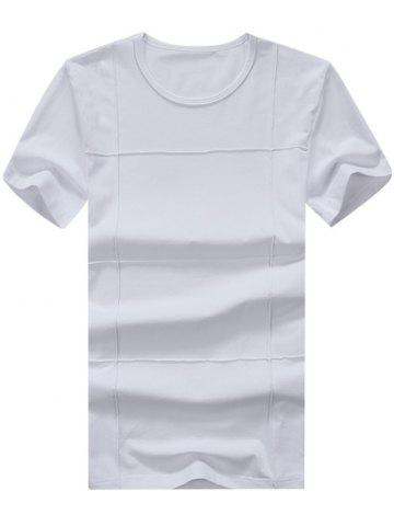 Buy Textured Short Sleeve Tee WHITE 2XL