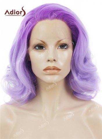 Hot Adiors Medium Colormix Side Swept Bang Curly Lace Front Synthetic Wig - JUBILEE  Mobile