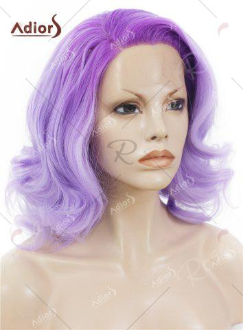 Best Adiors Medium Colormix Side Swept Bang Curly Lace Front Synthetic Wig - JUBILEE  Mobile