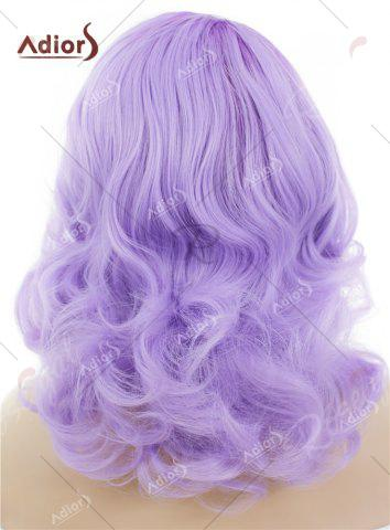 Outfit Adiors Medium Colormix Side Swept Bang Curly Lace Front Synthetic Wig - JUBILEE  Mobile
