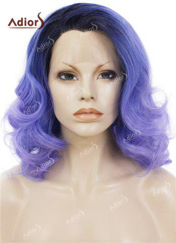 Shops Adiors Medium Colormix Side Swept Bang Curly Lace Front Synthetic Wig