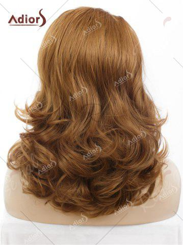 Shop Adiors Long Shaggy Side Swept Bang Curly Lace Front Synthetic Wig - BROWN  Mobile